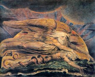elohim creating adam - William Blake