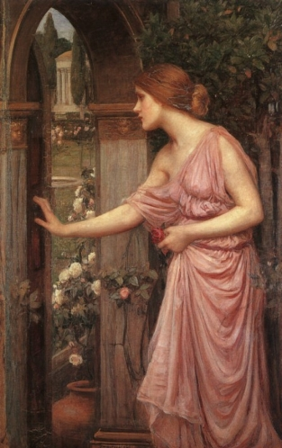 John William Waterhouse, Psyche Entering Cupids Garden, 1905