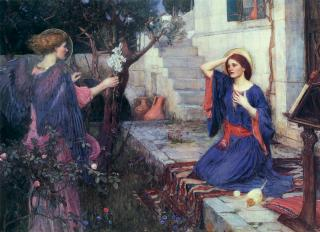 the-annunciation-john-william-waterhouse