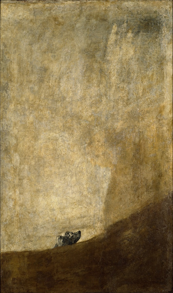 Francisco Goya, The Dog, 1819–1823