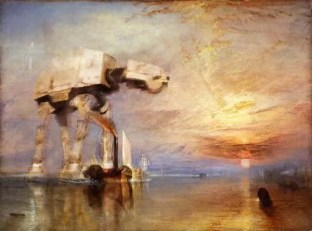 The Fighting Temeraire, J.M.W.Turner, 1839; altered with an AT-AT
