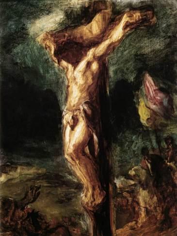 Christ on the Cross sketch, Eugène Delacroix, 1845