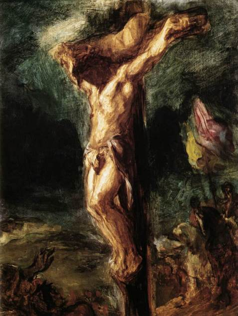 Christ on the Cross sketch, Eugène Delacroix, 1845