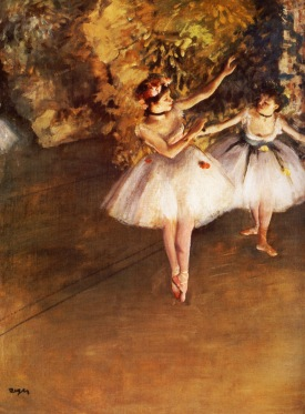 Two Dancers on a Stage, Edgar Degas, 1874