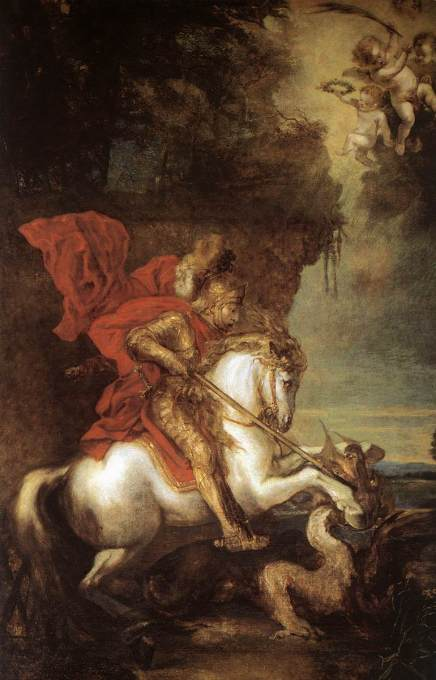 St George and the Dragon, Anthony van Dyck, 1599-1641