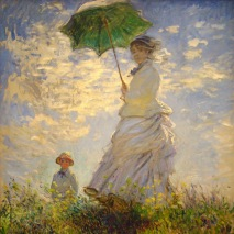 Woman with a Parasol (Madame Monet and Her Son) - Claude Monet