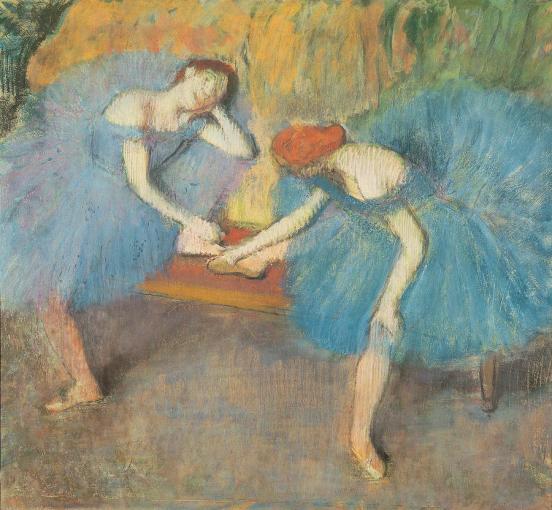 Edgar Degas, Two Dancers at Rest, 1898