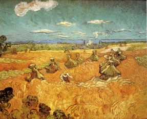 Vincent Van Gogh, Wheat Stacks with Reaper, 1890