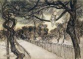 Peter Pan on a Branch, Arthur Rackham, 1906-1912