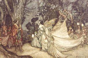 The Meeting of Oberon and Titania, Arthur Rackham, 1905