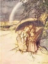 Rain Rain Go Away, Arthur Rackham, 1913