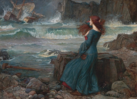 Miranda (from The Tempest), 1916, John William Waterhouse