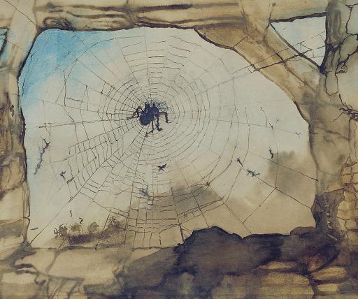 Victor Hugo, Vianden through a Spider's Web