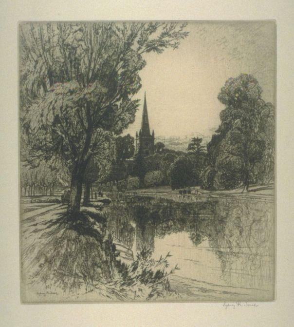 Sydney Robert Jones, Holy Trinity Church, Stratford on Avon, early 20th C