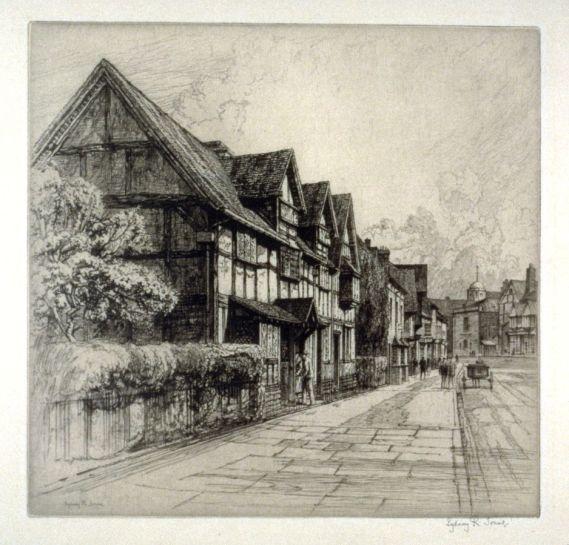 Sydney Robert Jones, Shakespeare's Birthplace, Stratford on Avon, early 20th C.
