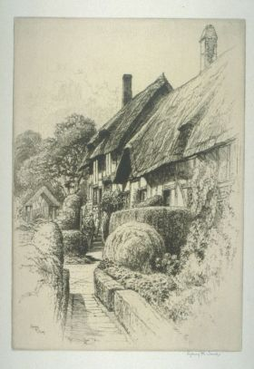 Sydney Robert Jones, Anne Hathaway's Cottage, Stratford on Avon, early 20th Century