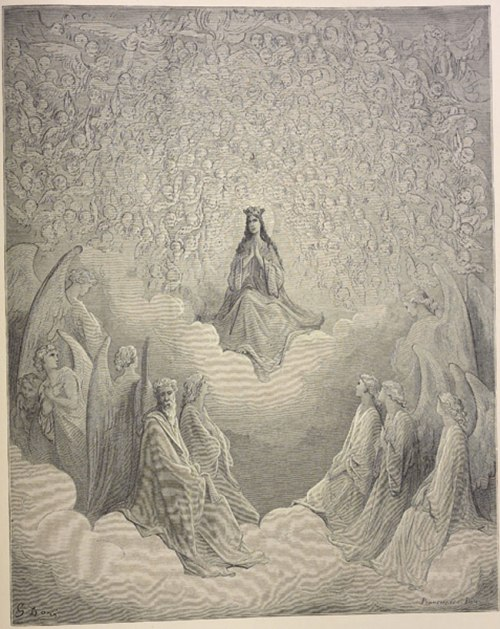 Gustave Doré, Beatrice enthroned, 1868