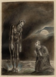William Blake, Hamlet and his father's ghost, 1806