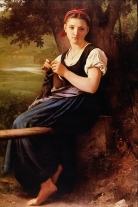 Bouguereau, The Knitting Girl, 1869