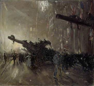Sir William Nicholson, Armistice Night, 1918