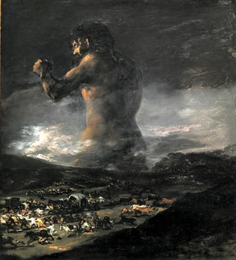 Francisco Goya, The Colossus, 1810-1812