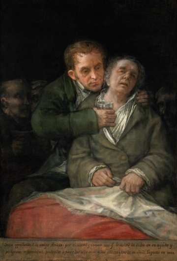 Francisco Goya, Self-Portrait with Dr. Arrieta, 1820